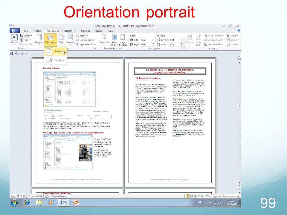 99 Orientation portrait