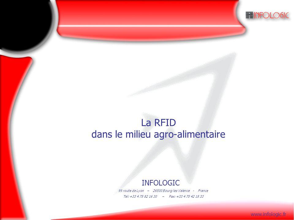 INFOLOGIC 99 route de Lyon – 26500 Bourg les Valence - France Tel: +33 4 75 82 16 30 – Fax: +33 4 75 42 18 33 www.infologic.fr La RFID dans le milieu