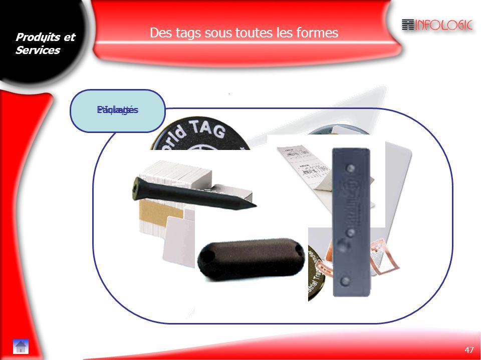 47 Des tags sous toutes les formes InlaysEtiquettesPackagés Produits et Services