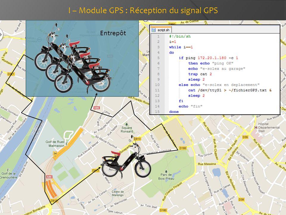 Entrepôt I – Module GPS : Réception du signal GPS