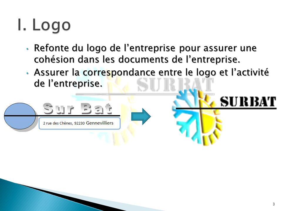 Refonte du logo de l'entreprise pour assurer une cohésion dans les documents de l'entreprise.