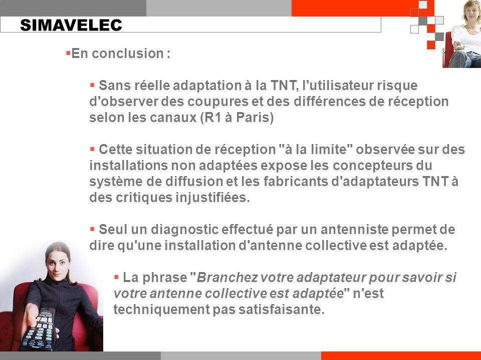 En conclusion :  Sans réelle adaptation à la TNT, l'utilisateur risque d'observer des coupures et des différences de réception selon les canaux (R1