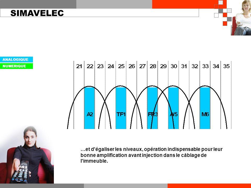 …et d égaliser les niveaux, opération indispensable pour leur bonne amplification avant injection dans le câblage de l immeuble.