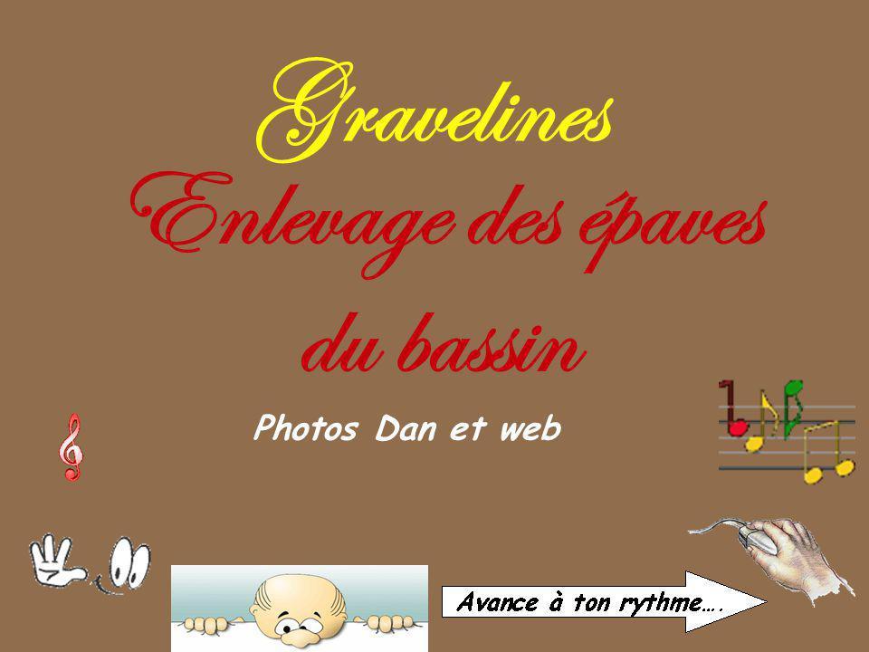 Gravelines Photos Dan et web Enlevage des épaves du bassin