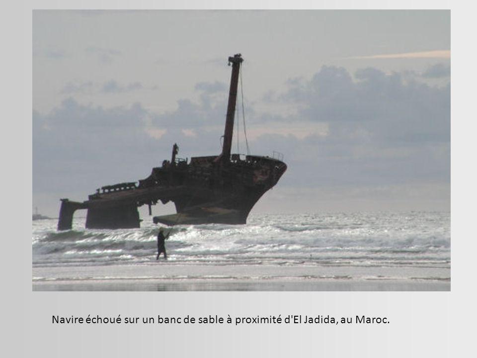 L épave du SS (Steam Ship) Dicky ensablée depuis 1893.