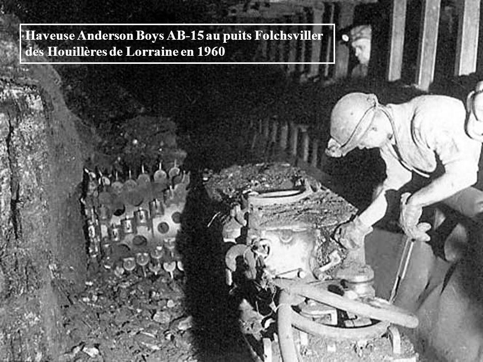 Haveuse AB 15 au puits Faulquemont des Houillères de Lorraine en 1955