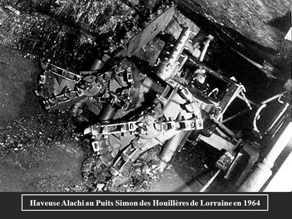 Rabot au puits Wendel des Houillères de Lorraine vers 1980
