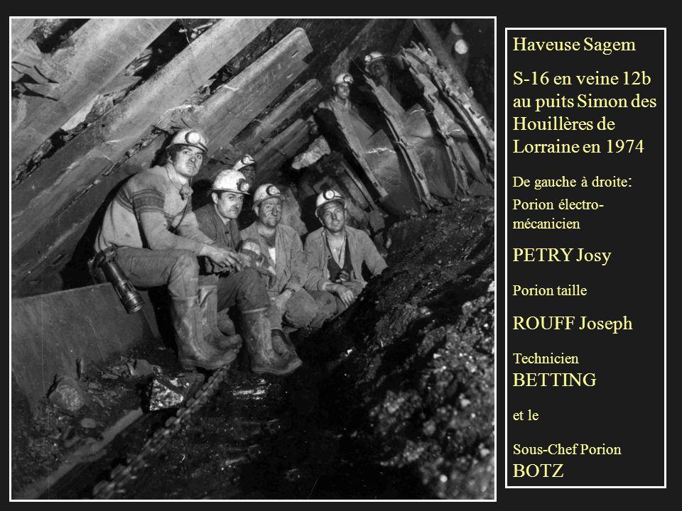 Ravageur en semi-dressant du puits Simon des Houillères de Lorraine vers 1980. Le porion spécialiste à l'époque de cette haveuse était mon ami Darocha