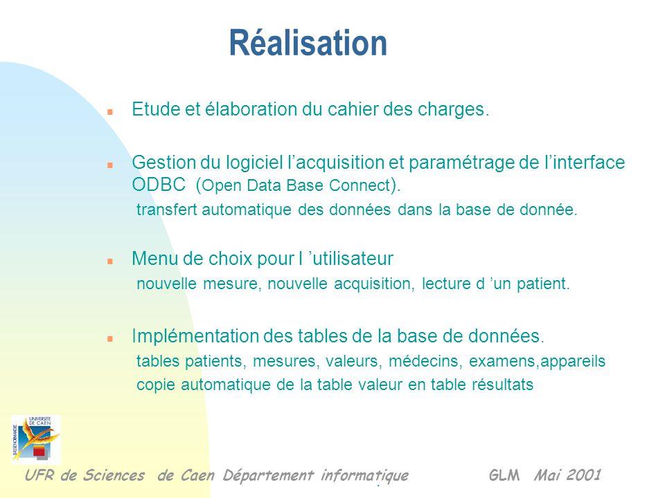 Interrogation des données via le net BD Interface de consultation des données BD Boîtier d'acquisition Architecture du système Poste local Transfert d