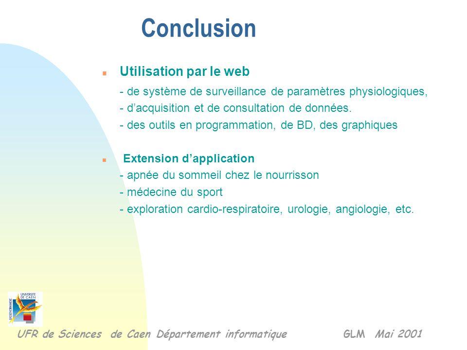 Exemple d'un dossier médical Données médicales UFR de Sciences de Caen Département informatique GLM Mai 2001 commentaires