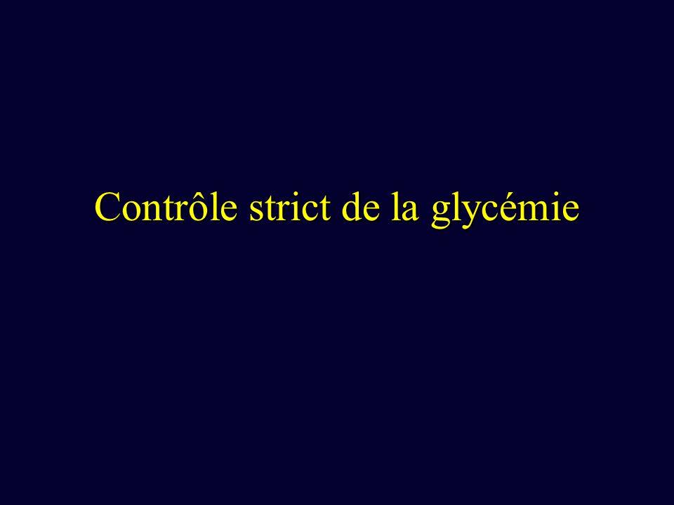 Contrôle strict de la glycémie