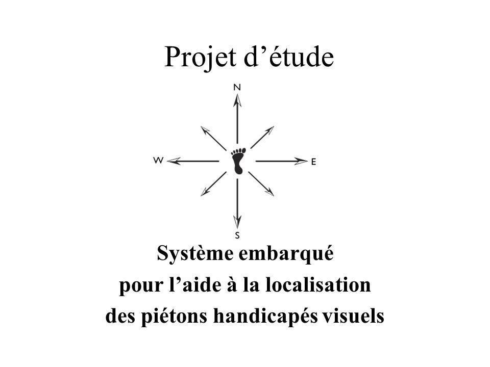 Projet d'étude Système embarqué pour l'aide à la localisation des piétons handicapés visuels