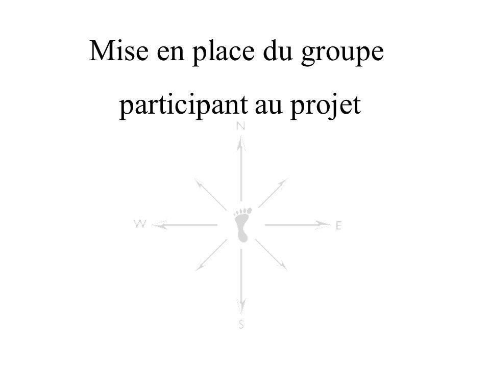 Mise en place du groupe participant au projet