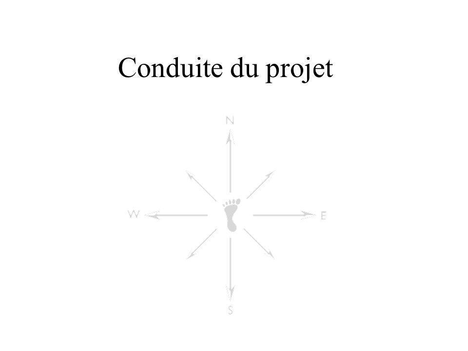 Conduite du projet