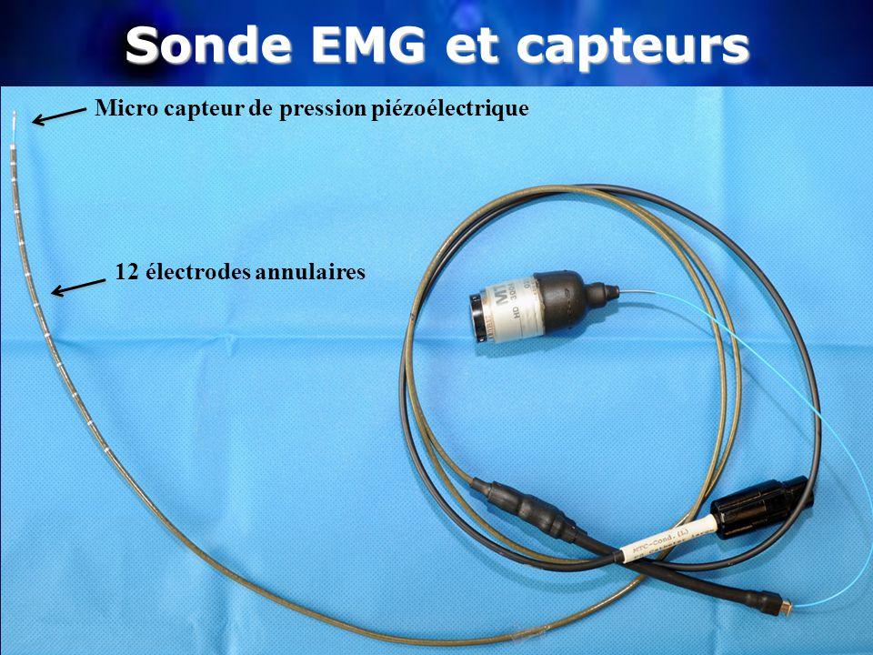 Sonde EMG et capteurs Micro capteur de pression piézoélectrique 12 électrodes annulaires