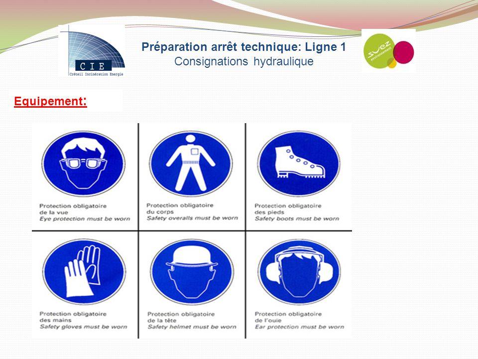 Equipement : Préparation arrêt technique: Ligne 1 Consignations hydraulique