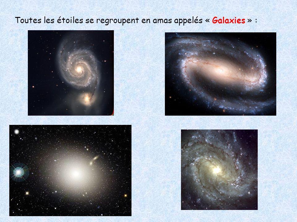 La galaxie dans laquelle se trouve notre Système Solaire est appelée « Voie Lactée » : C'est une galaxie spirale.