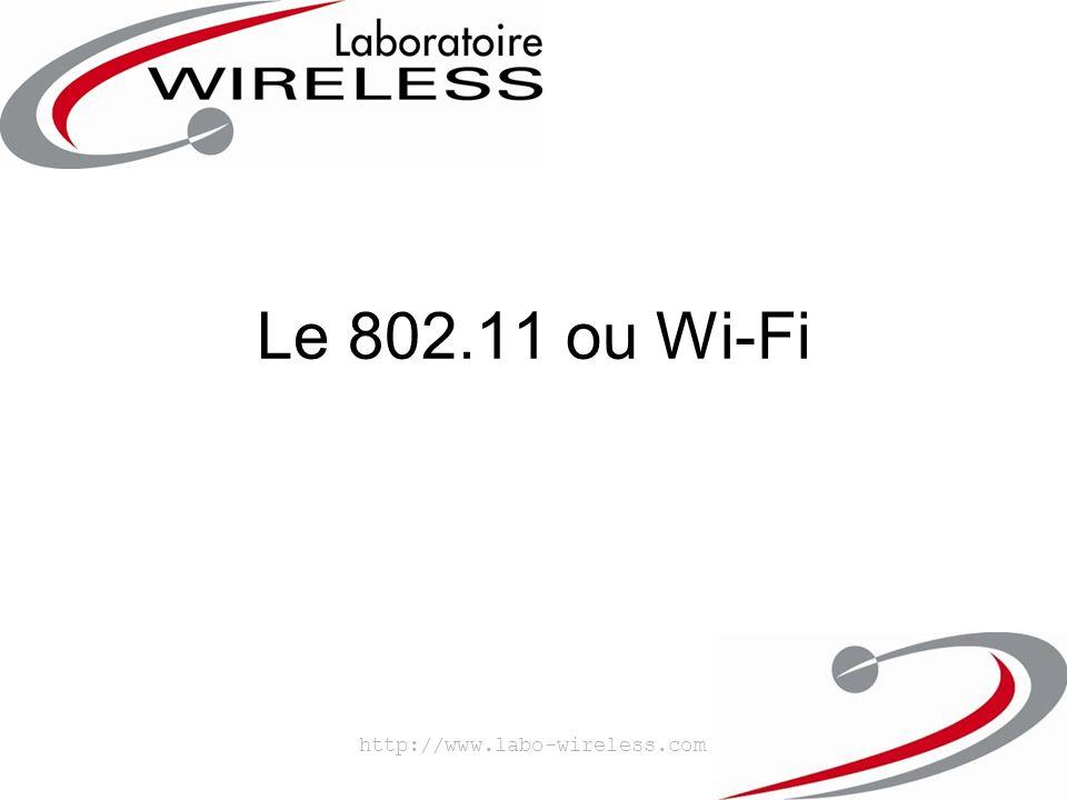 http://www.labo-wireless.com Architecture d'un réseau 802.11 –Technologie Cellulaire