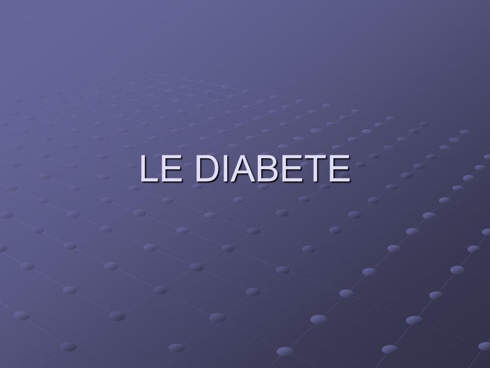 SOMMAIRE 1.Qu'est ce que le diabète .