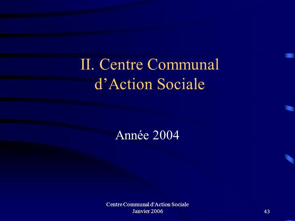 Centre Communal d'Action Sociale Janvier 200642 Nature des problèmes des familles rencontrées :