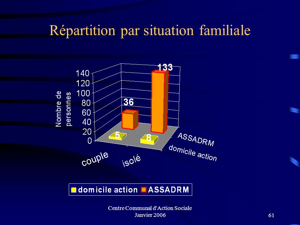 Centre Communal d Action Sociale Janvier 200660 Public touché