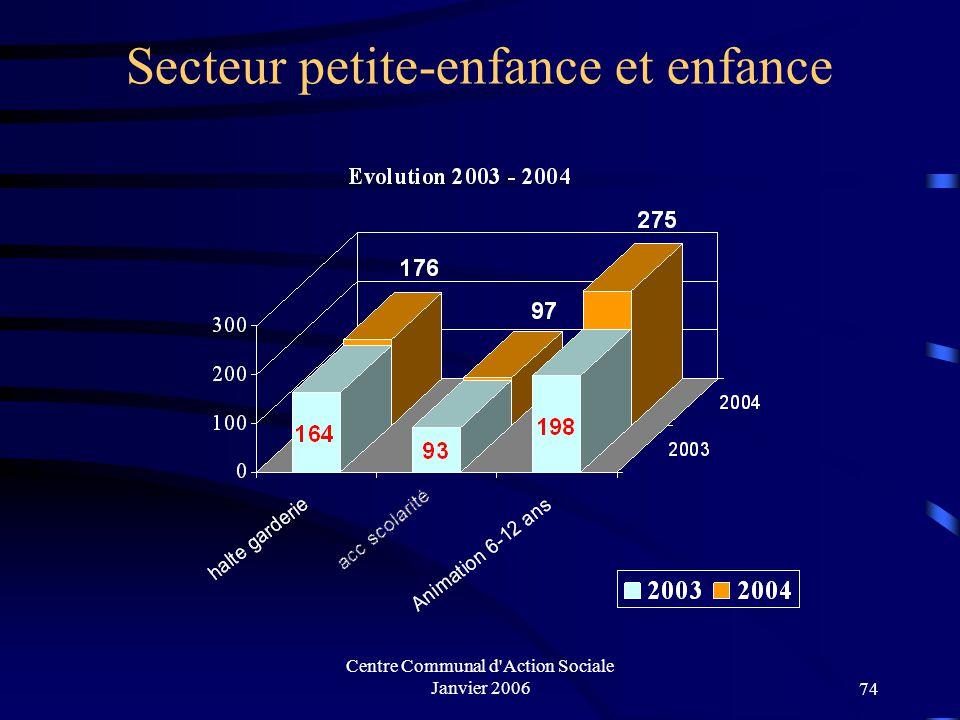 Centre Communal d'Action Sociale Janvier 200673 Secteur adultes