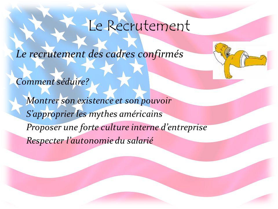 Le Recrutement Le recrutement des cadres confirmés Comment séduire.