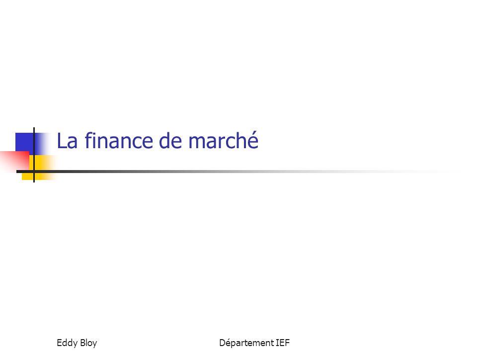 Eddy BloyDépartement IEF La finance de marché