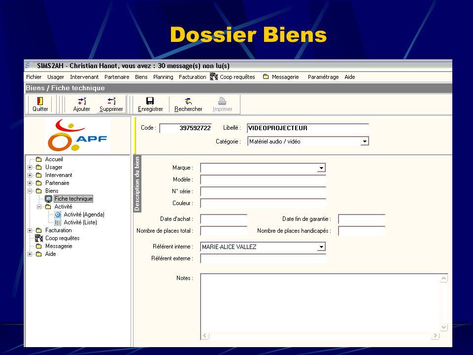Dossier Biens