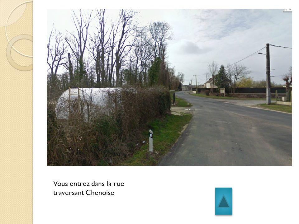 Vous entrez dans la rue traversant Chenoise