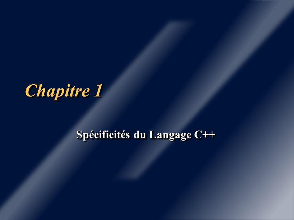 HistoriqueHistorique 1985 1985 Langage C++, parution du livre Bjarne Stroustrup http://www.research.att.com/~bs/homepage.html 1998 Normalisation ANSI du langage C++ 1998 Normalisation ANSI du langage C++ Livre de cours : Programmer en C++,Claude Delannoy Livre de cours : Programmer en C++,Claude DelannoyEyrolles
