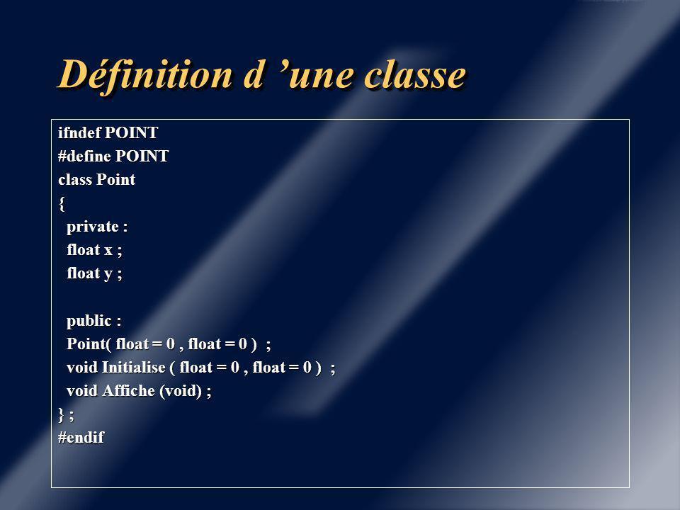 Définition d 'une classe Première approche du constructeur: Initialiser les données au moment de l 'instanciation.