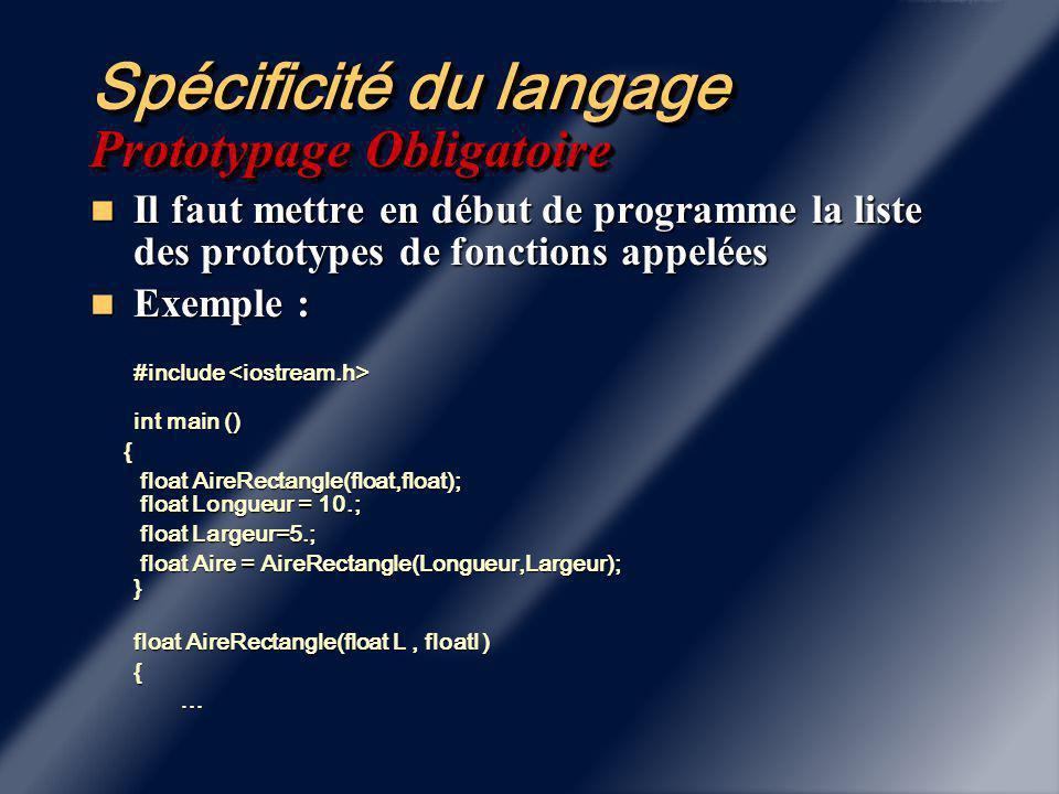 Spécificité du langage La notion de référence.