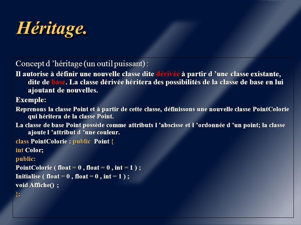 Chapitre 5 HéritageHéritage