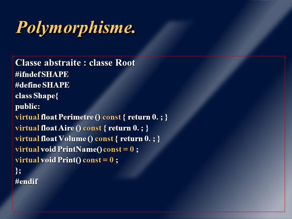 Chapitre 6 PolymorphismePolymorphisme