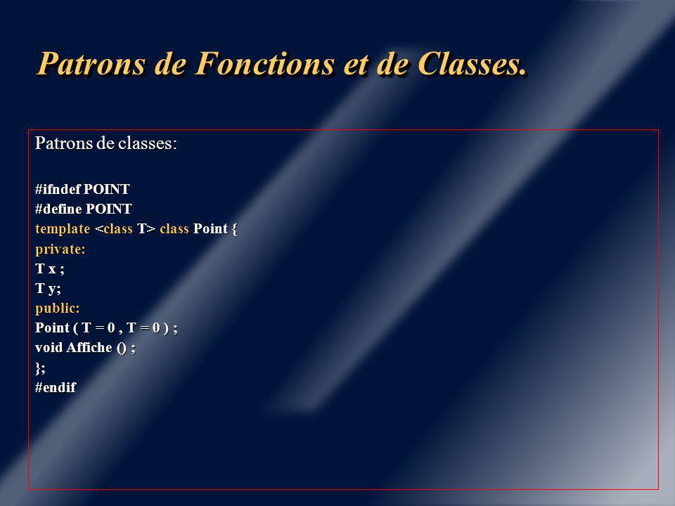 Patrons de Fonctions et de Classes.
