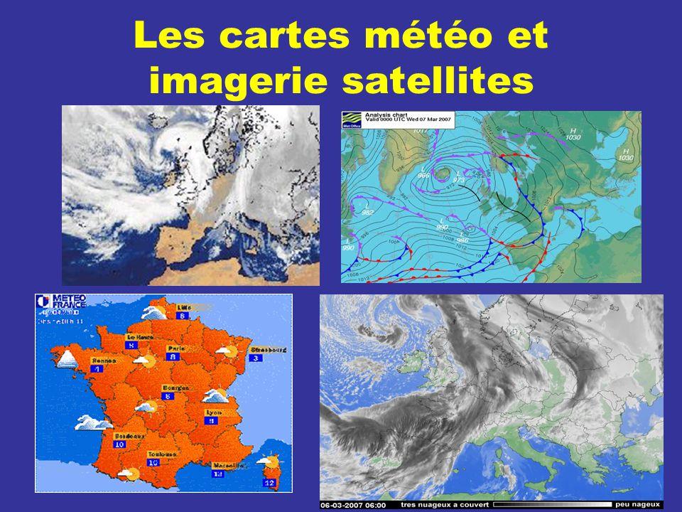 Les cartes météo et imagerie satellites