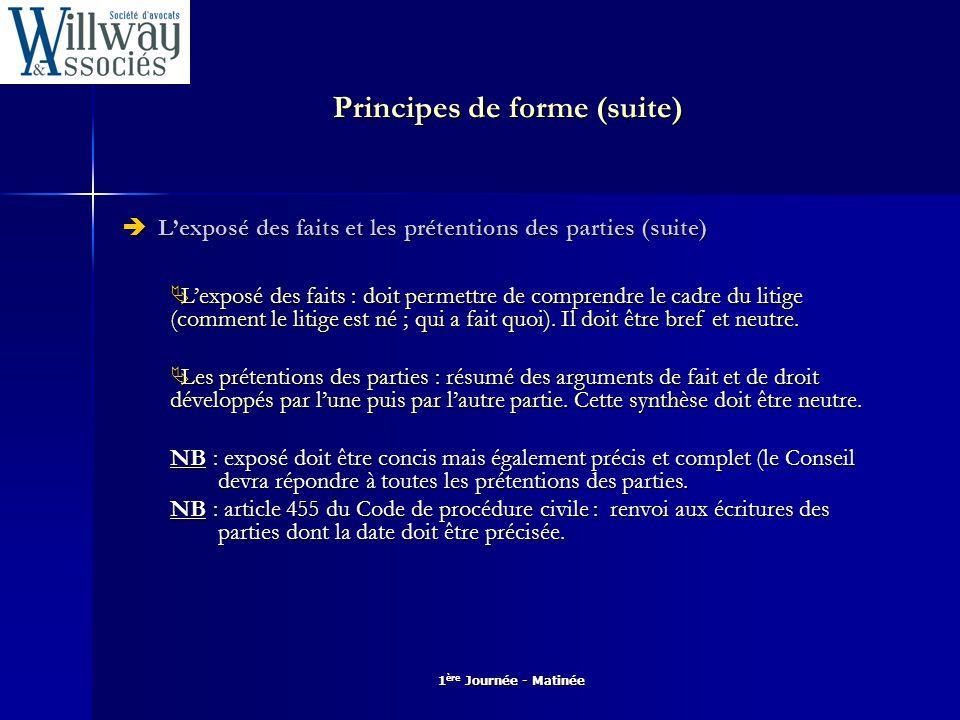 1 ère Journée - Matinée Principes de forme (suite)  Les motifs Cf.