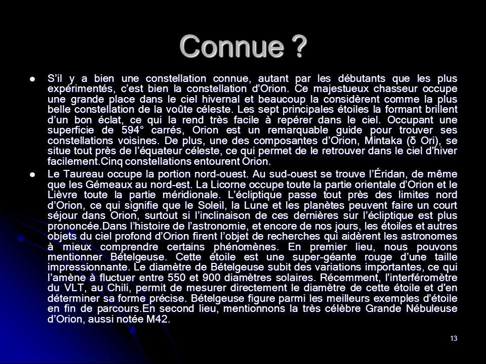 13 Connue .