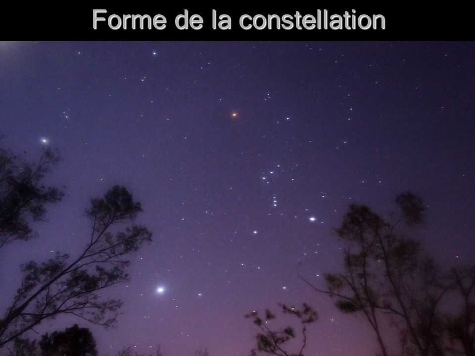 9 Forme de la constellation