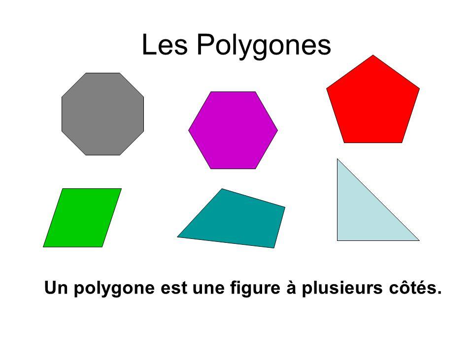 Les Polygones Un polygone est une figure à plusieurs côtés.