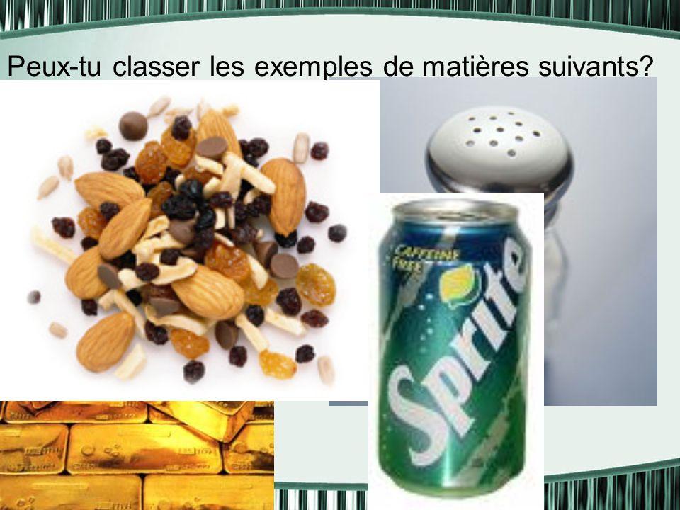 Les caractéristiques des substances pures En général, les substances pures sont formés de la même sorte de particules Elles ne peuvent pas être décomposées par des moyens physiques ( comme la filtration, l'évaporation, etc…)