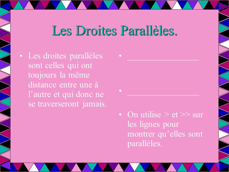 Les Droites Parallèles.
