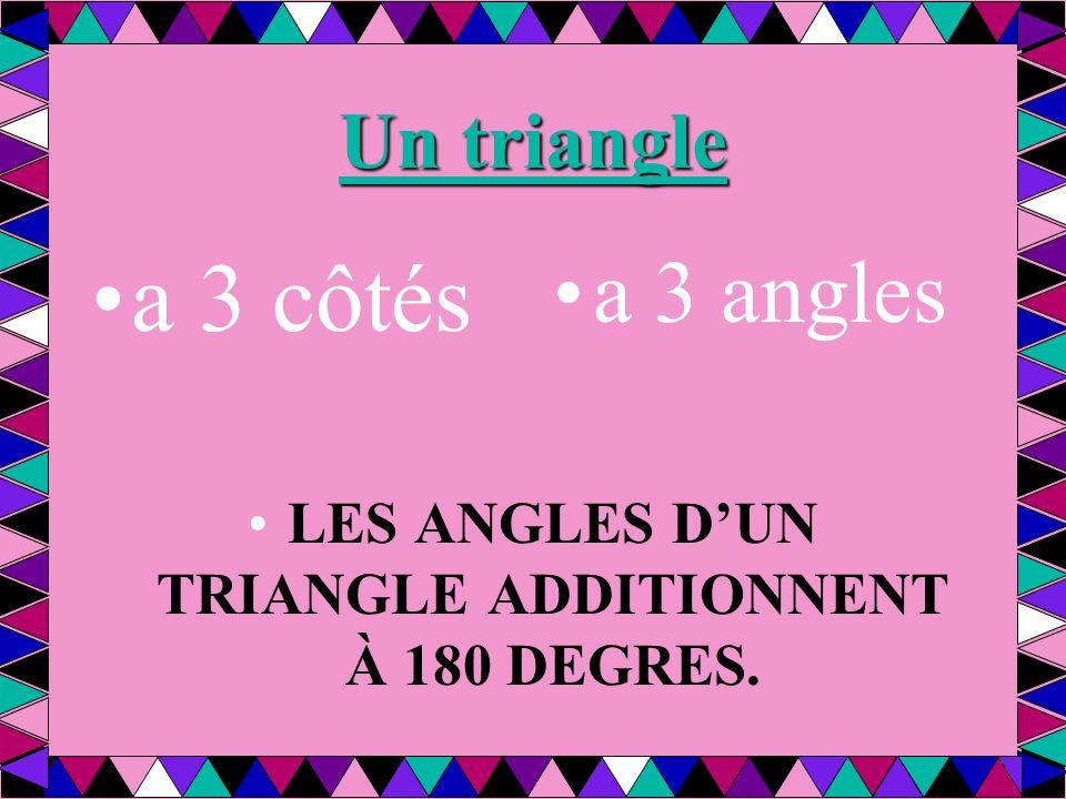 Classifiez les triangles: On peut les catégoriser de 2 façons: Classifiés selon les CÔTÉS 1.