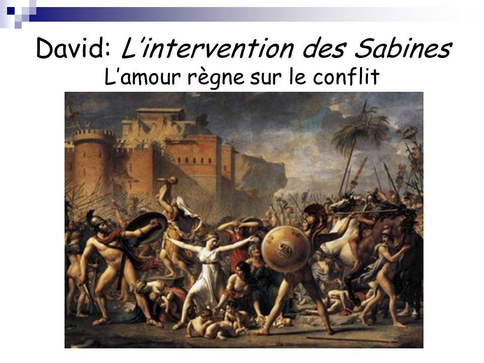 David: L'intervention des Sabines L'amour règne sur le conflit