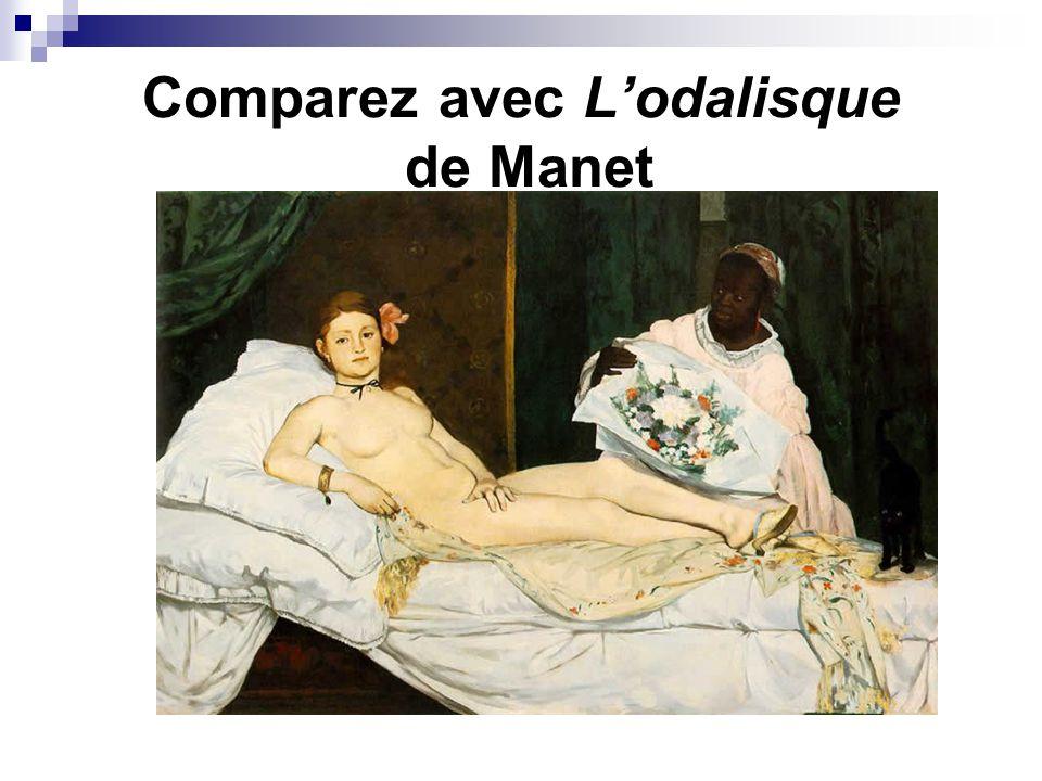 Comparez avec L'odalisque de Manet