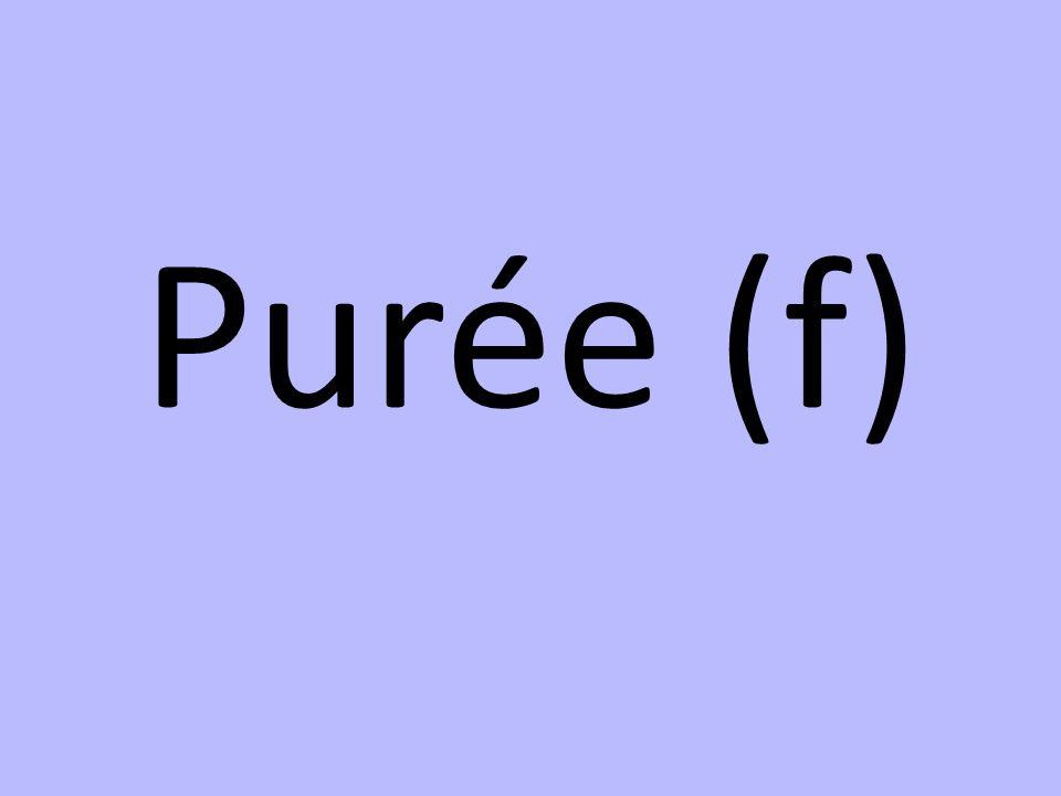 Purée (f)