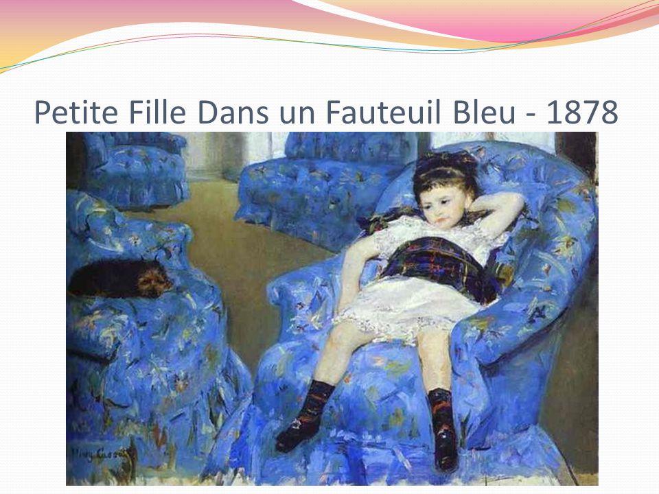 Petite Fille Dans un Fauteuil Bleu - 1878