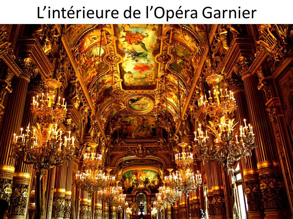 L'intérieure de l'Opéra Garnier