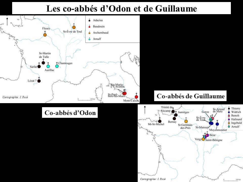 Les co-abbés d'Odon et de Guillaume Co-abbés d'Odon Co-abbés de Guillaume Cartographie : I. Rosé